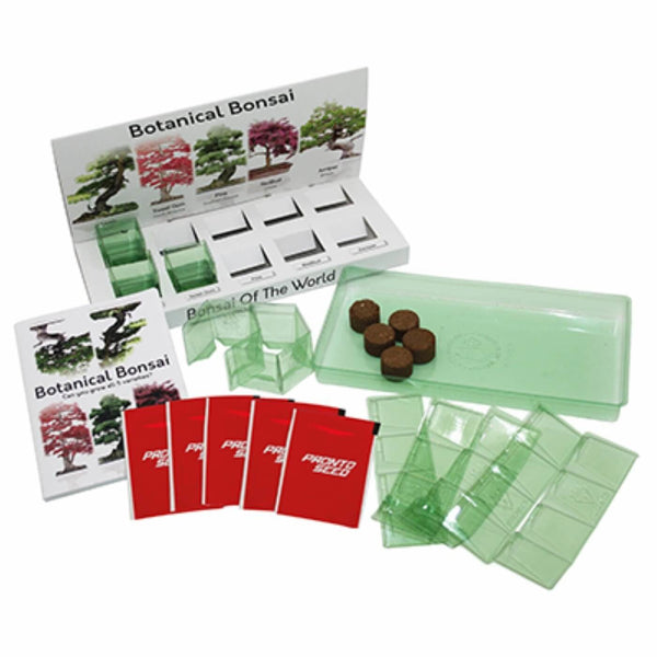 Bonsai Eco Grow Kit 100% Recyclable 5 Varieties to Grow from Seed Made with 100% Recyclable Materials