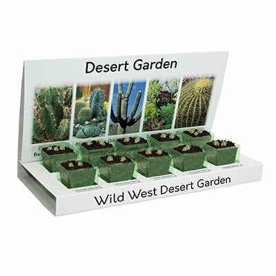 Cactus & Succulents Eco Grow Kit 100% Recyclable 5 Varieties to Grow from Seed Made with 100% Recyclable Materials