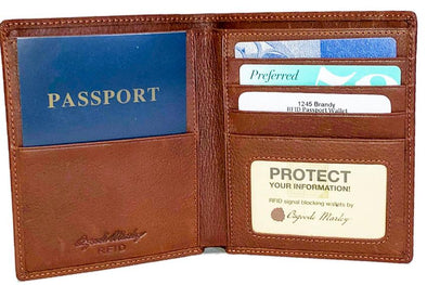 Cashmere RFID Passport Wallet