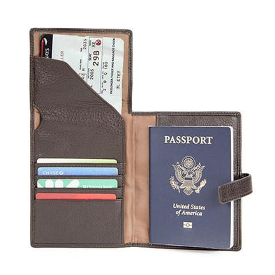 Cashmere RFID Passport Wallet with Ticket Holder