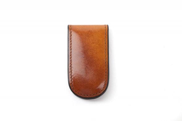 Old Leather Magnetic Money Clip