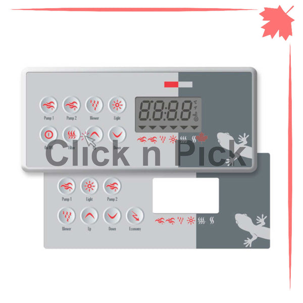 0200-007194 Gecko TSC-8 K-8 Keypad with Overlay - Click N Pick Canada