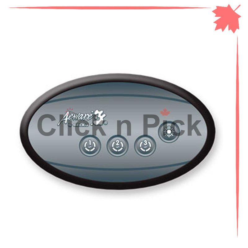 0607-005019 Gecko IN.K120-3OP Auxiliary Topside Control with Overlay 4-Button Oval - Click N Pick Canada
