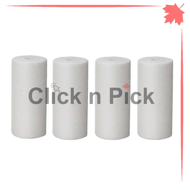 "1227865-V-BB | Valuetrex BB 1 Micron Spun Sediment Water Filter 10"" x 4.5"" (4 pack) - clicknpickcanada"