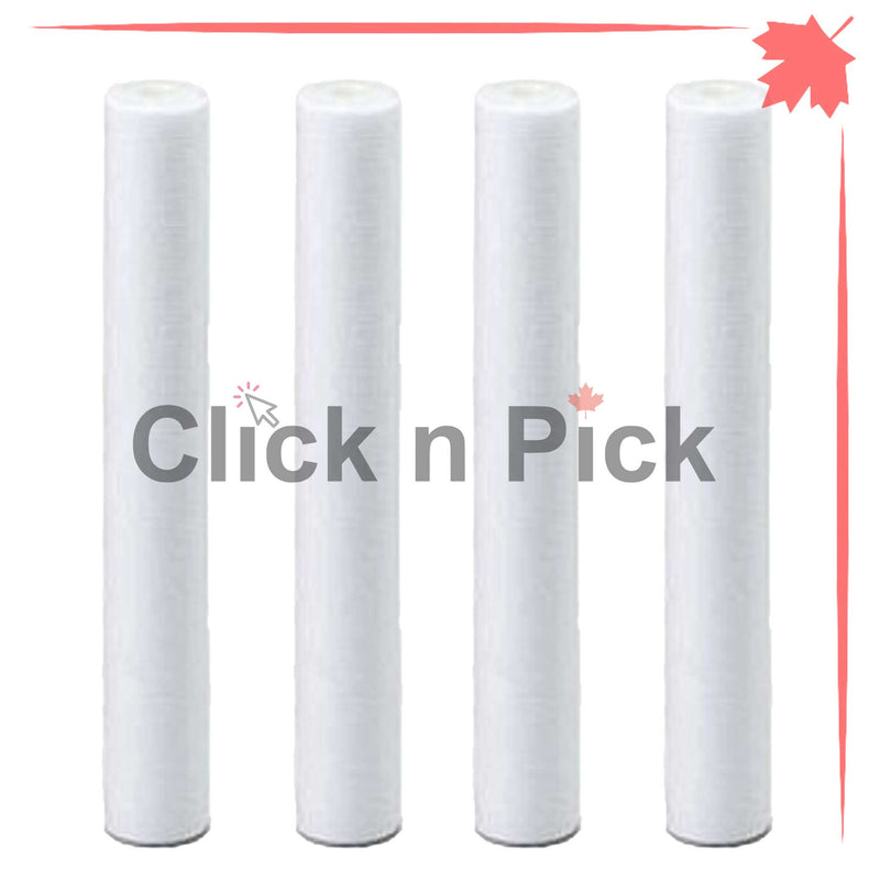 "1227866-V | Valuetrex 1 Micron Spun Sediment Water Filter 20"" x 2.5"" (4 pack) - Click N Pick Canada"