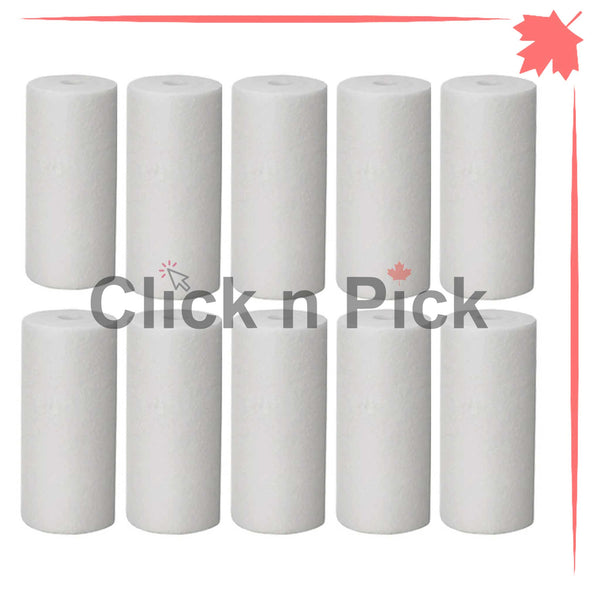 "1227867-V-BB | Valuetrex BB 5 Micron Spun Sediment Water Filter 10"" x 4.5"" (10 pack) - clicknpickcanada"