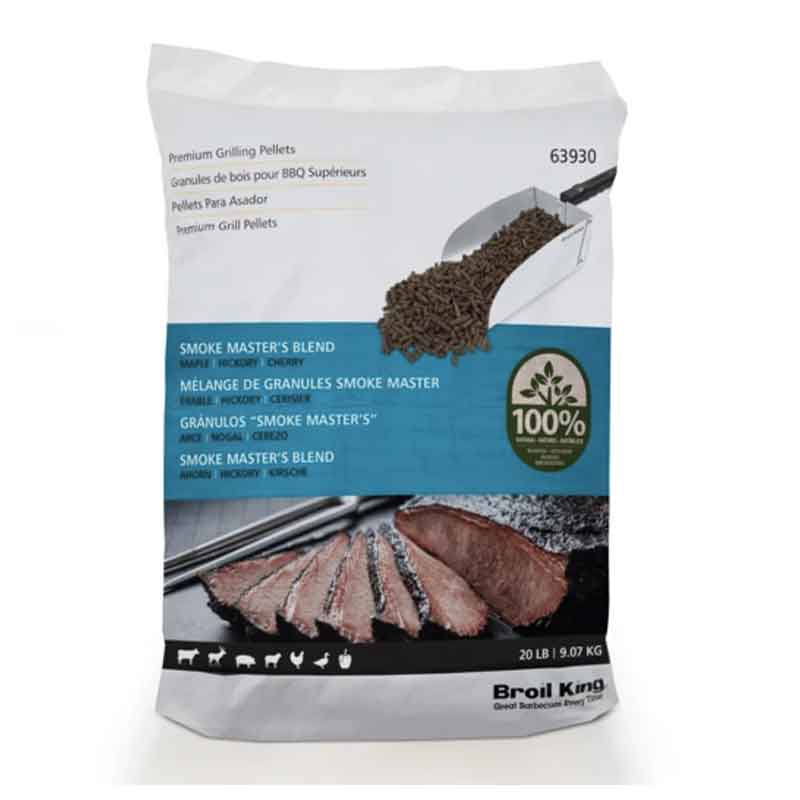 Broil King Wood Pellets Master's Blend (Maple, Hickory, Cherry) 20lbs - clicknpickcanada