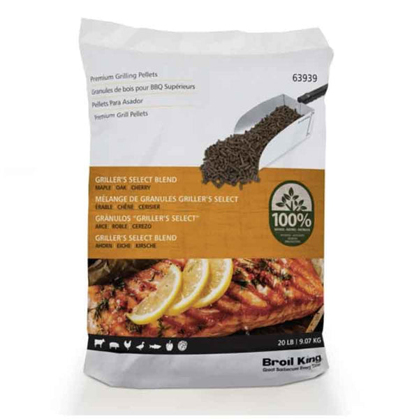 Broil King Wood Pellets Select Blend (Maple, Oak, Cherry) 20lbs - Click N Pick Canada