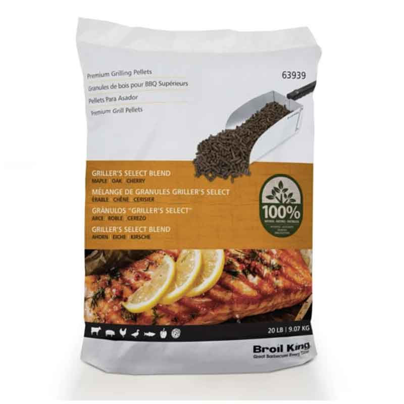 Broil King Wood Pellets Select Blend (Maple, Oak, Cherry) 20lbs - clicknpickcanada