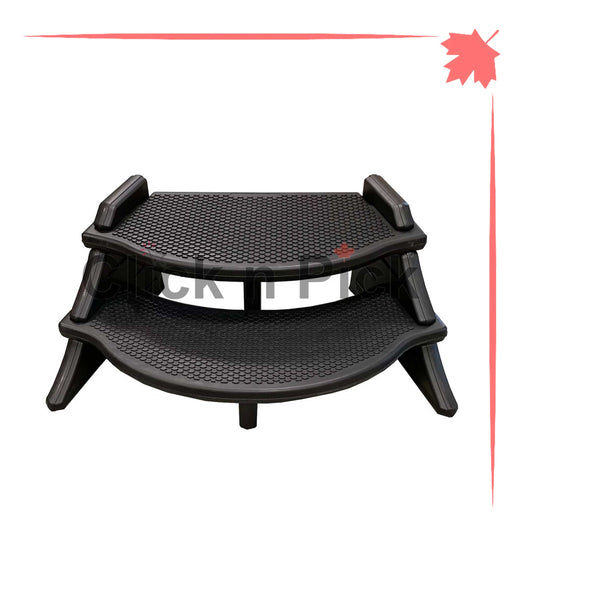 Confer Extra Wide Lightweight Spa Step Black - clicknpickcanada