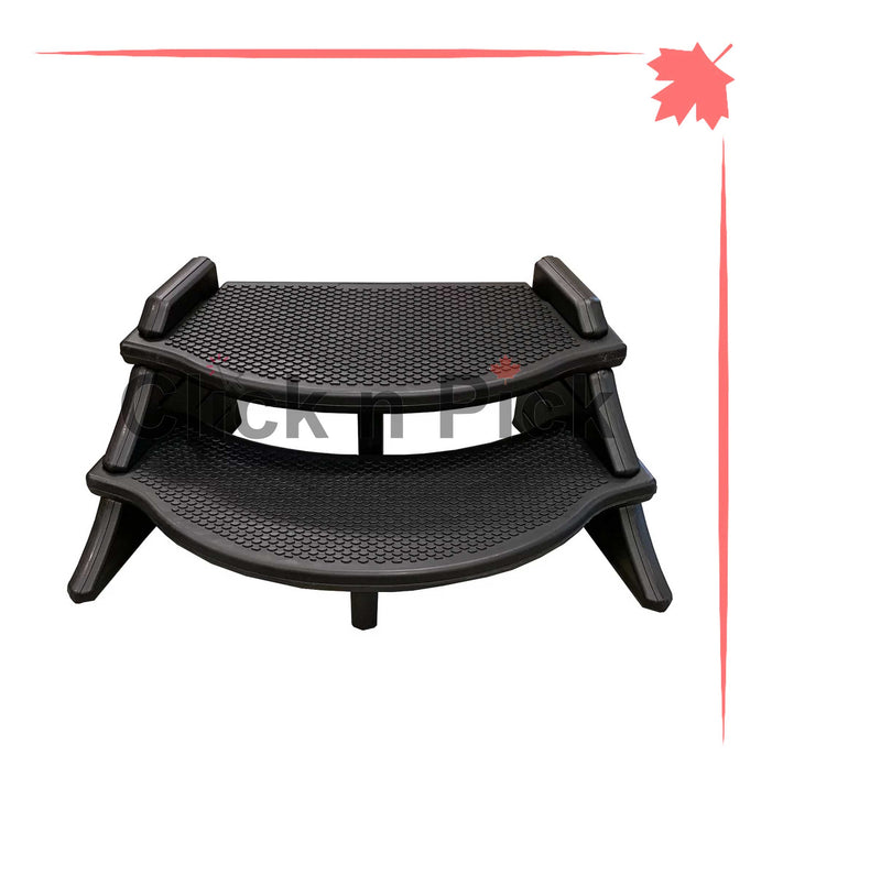 Confer Extra Wide Lightweight Spa Step Black - Click N Pick Canada