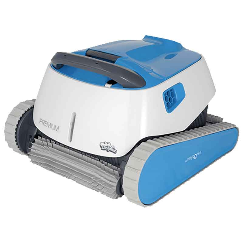 Dolphin Premium WiFi Capable Robotic Inground Pool Cleaner with BlueTooth and Caddy Cart - clicknpickcanada