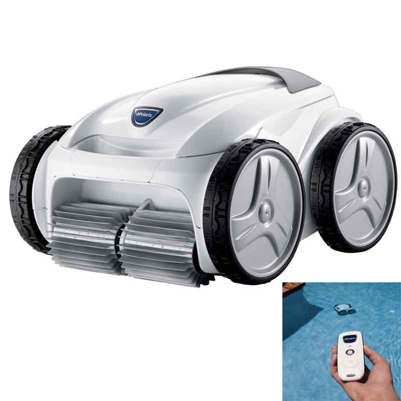 Polaris P955 4WD Robotic Pool Cleaner & Caddy Cart with Remote - clicknpickcanada