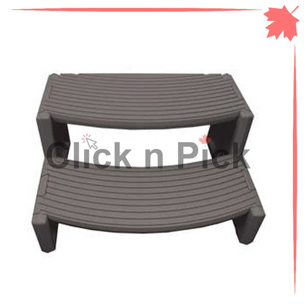 Pro Aqua Lightweight Spa Step Charcoal Grey - clicknpickcanada