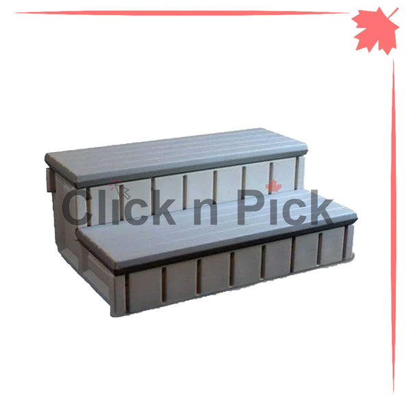 Waterway Spa Step with Storage Light Grey - clicknpickcanada