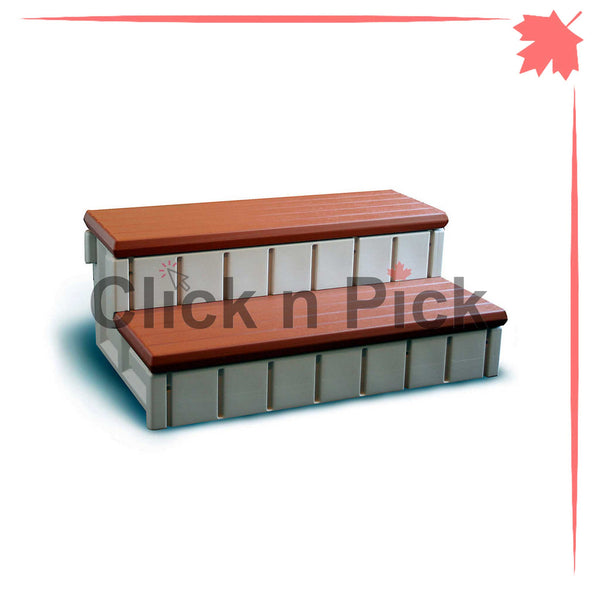 Waterway Spa Step with Storage Redwood - clicknpickcanada