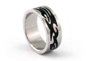 Men Gothic Solid Stainless Steel Ring MR012