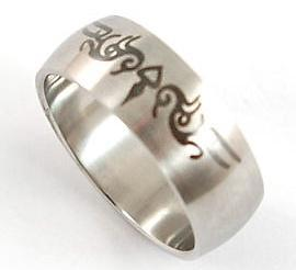 Hip Hop Gothic Stainless Steel Ring MR041
