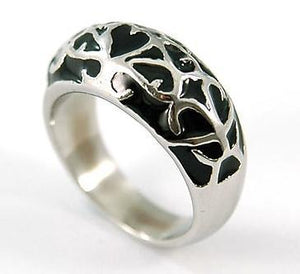 Hip Hop 2 Tone Gothic Style Solid Stainless Ring MR051