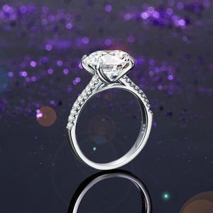 Solid 925 Sterling Silver 4 Carat Wedding Anniversary Ring Oval Cut Luxury Jewelry XFR8300