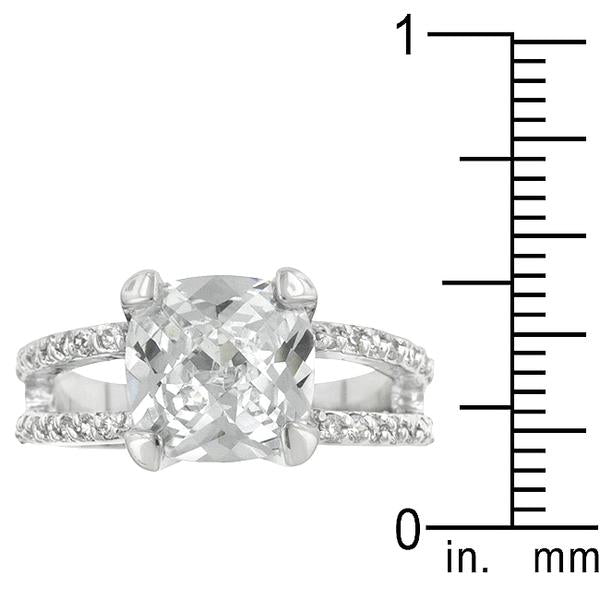 Double Band Cubic Zirconia Engagement Ring - Pretty Parrot™️