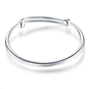 Solid 999 Silver Bangle Bracelet Baby Gift Adjustable Size XFB8002