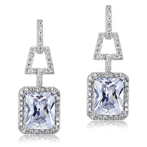 4 Carat Created Diamond 925 Sterling Silver Dangle Earrings XFE8098