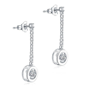 Unique Design Bling Bling Earrings Dangle Drop Solid 925 Sterling Silver XFE8168