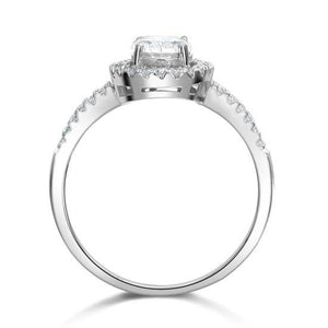 1.5 Carat Created Diamond Engagement Sterling 925 Silver Ring XFR8022