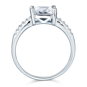 2 Carat Created Diamond Sterling Solid 925 Silver Wedding Engagement Ring XFR8082