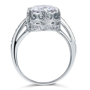 Vintage Style 2.5 Ct Solid 925 Sterling Silver Wedding Engagement Ring Jewelry XFR8094