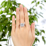 925 Sterling Silver 2 Pcs Wedding Engagement Ring Set 5 Ct Created Diamond XFR8205