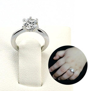 Newborn Baby 925 Sterling Silver Ring Created Diamond Photo Prop XFR8206