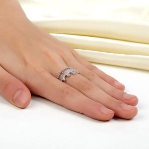 Solid 925 Sterling Silver Ring Crown Shape Created Diamond for Lady Trendy Stylish Jewelry XFR8277