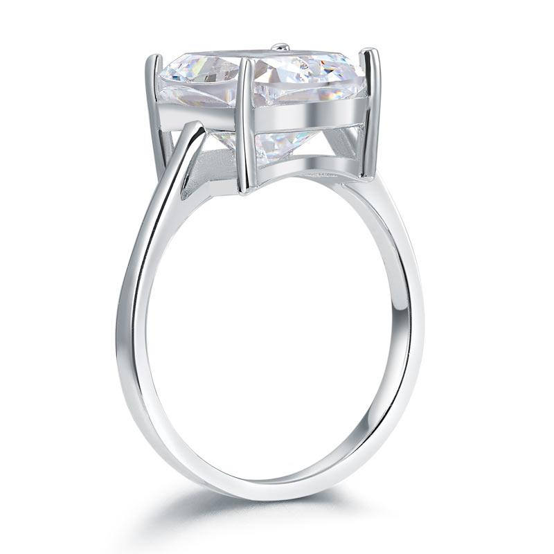 Solid 925 Sterling Silver 6 Carat Wedding Anniversary Solitaire Ring Luxury Jewelry XFR8286