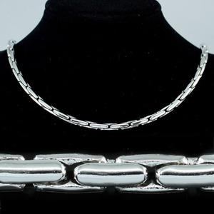 Hip Hop18K White Gold Plated Links Mens Necklace MN053