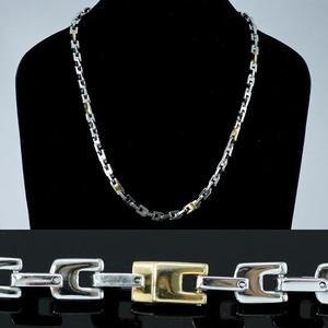 R&B Silver Gold Tone Stainless Steel Links Mens Necklace Chain MN068