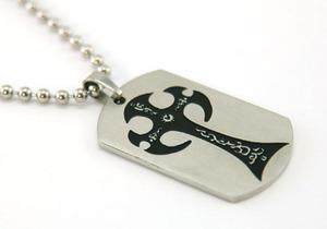Solid Stainless Steel Gothic Cross Mens Pendant Necklace MP006