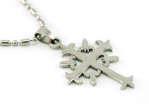 Solid Stainless Steel Gothic Cross Mens Pendant Necklace MP007