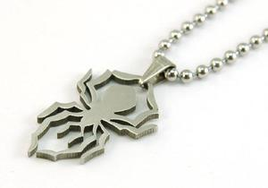 Spider Figure Stainless Steel Mens Pendant Necklace MP073