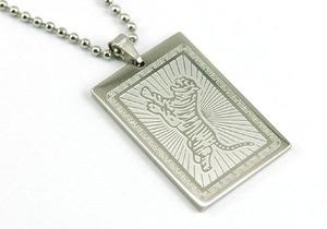 Tiger Stainless Steel Mens Pendant Necklace MP111