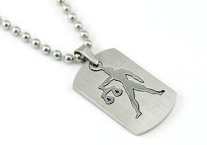 Libra Zodiac Sign - Stainless Steel Mens Pendant Necklace MP120