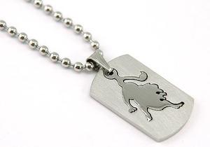 Leo Zodiac Sign - Stainles Steel Mens Pendant Necklace MP121