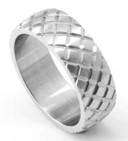 Hip Hop Silver Tone Stainless Steel Mens Ring MR053