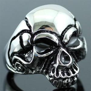Gothic Skull Head Stainless Steel Mens Ring MR085