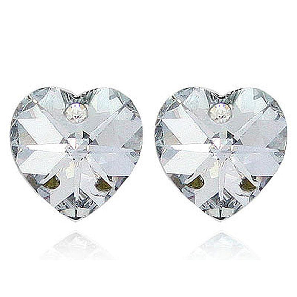 3 Carat Heart Earrings use Austrian Crystal XE501