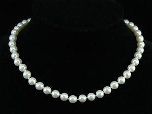 White Shell Pearl Necklace use Swarovski Crystal XN111