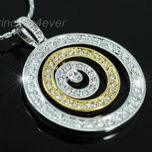 Designer Circles Necklace use Austrian Crystal XN119