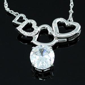 Heart Necklace use Swarovski Crystal XN232