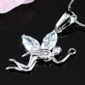Fairy 2 Carat CZ Simulated Diamond 18K Necklace XN243